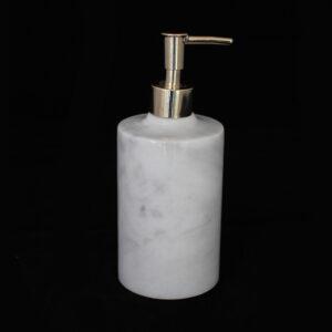 Gold Başlıklı Gri Desenli Sabunluk